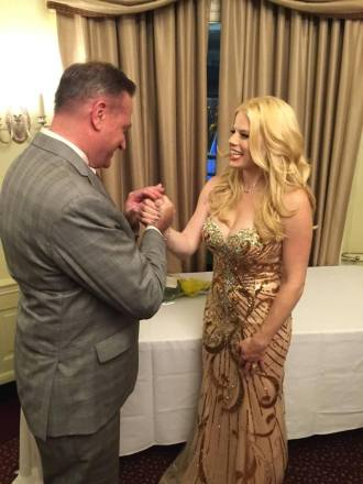 Megan Hilty with RPO's president, Charlie Owen.